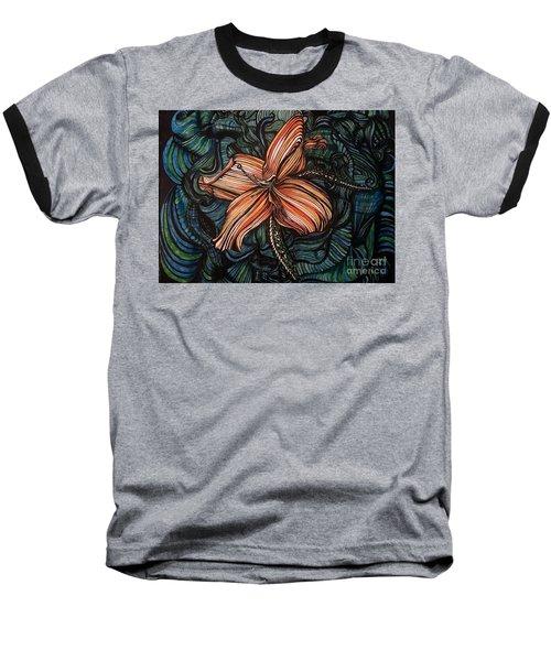 Orange Lily Baseball T-Shirt