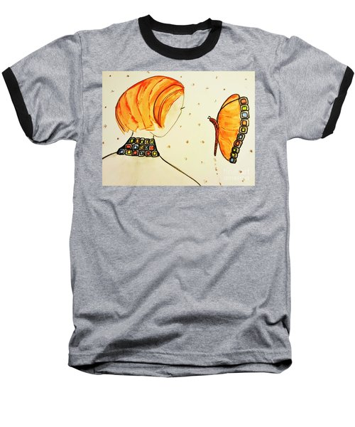 Orange Match Baseball T-Shirt