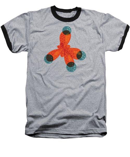 Orange Methane Molecule Baseball T-Shirt