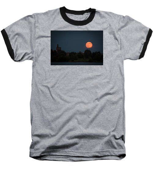 Orange Moon Baseball T-Shirt