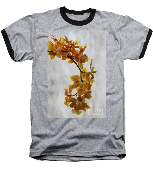 Orange Orchids Baseball T-Shirt by Darleen Stry