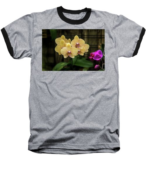 Orange Orchids Baseball T-Shirt