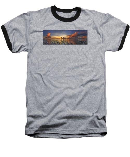 Orange Panorama Baseball T-Shirt