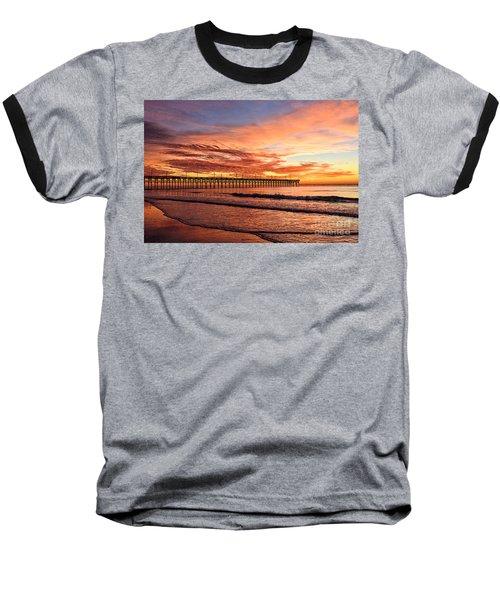 Orange Pier Baseball T-Shirt