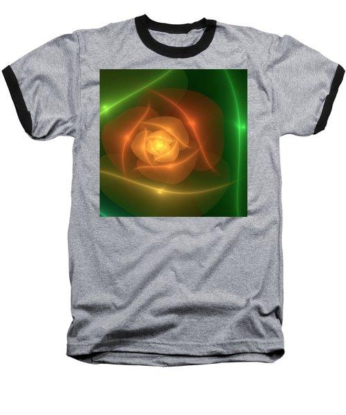 Orange Rose Baseball T-Shirt