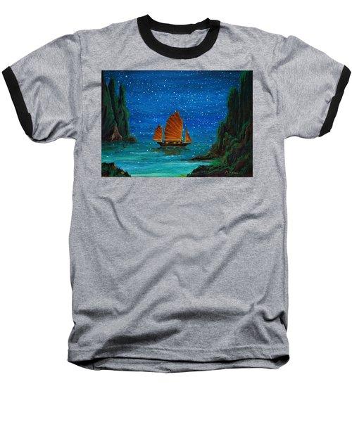 Orange Sail Baseball T-Shirt