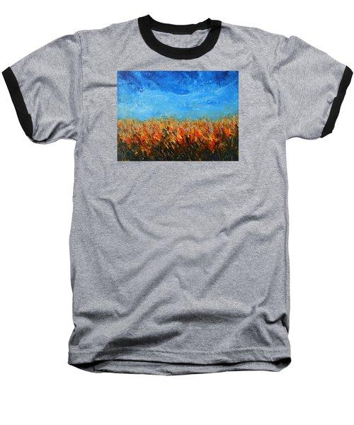 Orange Sensation Baseball T-Shirt by Jane See