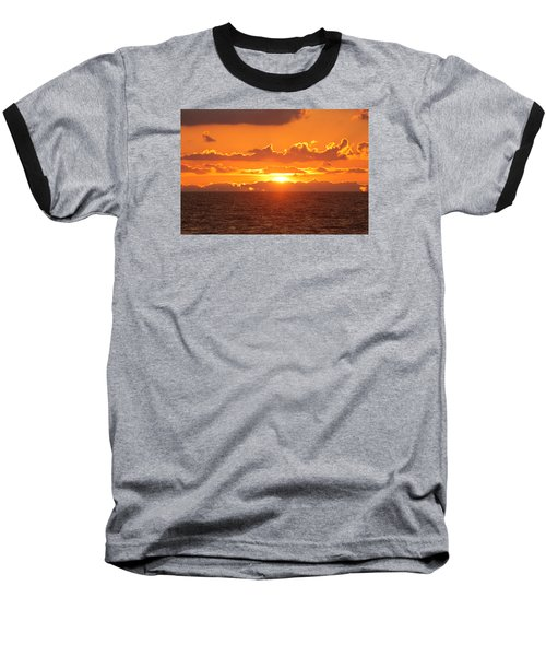 Orange Skies At Dawn Baseball T-Shirt
