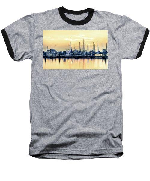 Orange Sorbet Baseball T-Shirt by Maddalena McDonald