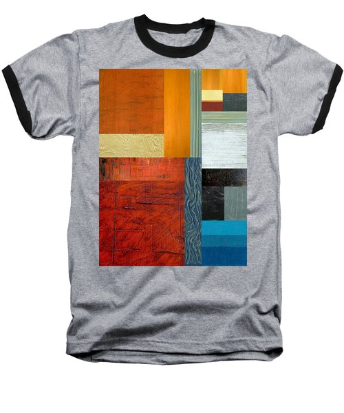 Baseball T-Shirt featuring the painting Orange Study With Compliments 1.0 by Michelle Calkins