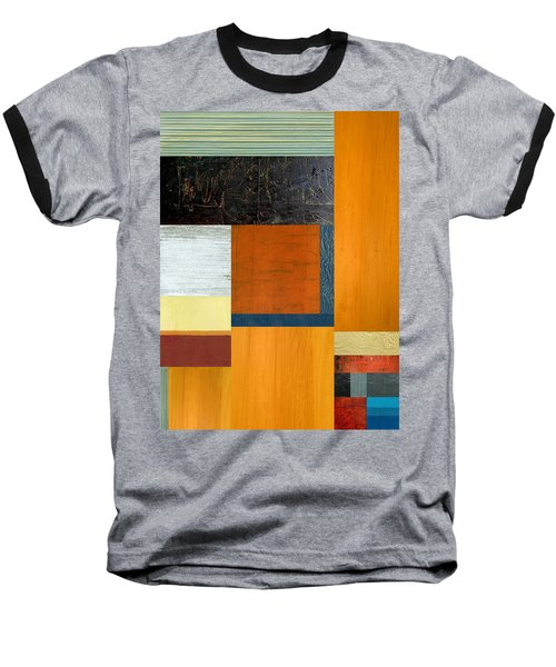 Baseball T-Shirt featuring the painting Orange Study With Compliments 2.0 by Michelle Calkins