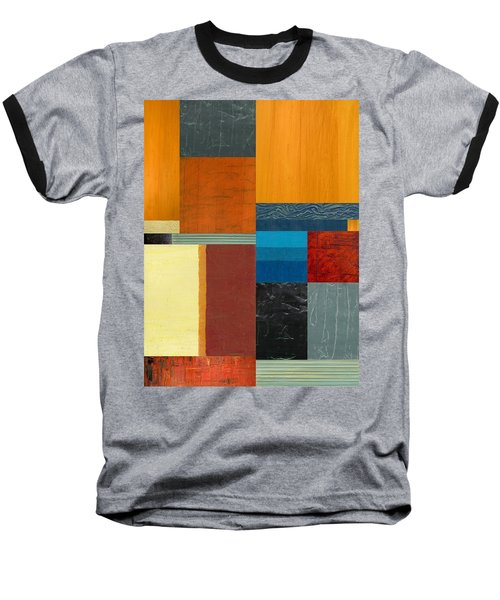 Baseball T-Shirt featuring the painting Orange Study With Compliments 3.0 by Michelle Calkins