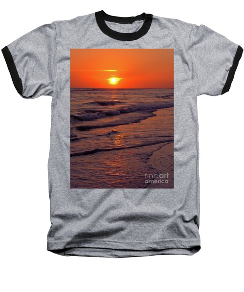 Orange Sunset Baseball T-Shirt