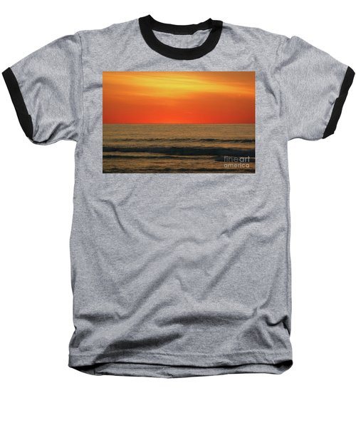 Orange Sunset On The Jersey Shore Baseball T-Shirt