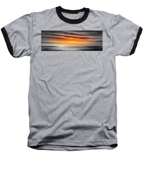 Orange Sunset - Panoramic Baseball T-Shirt
