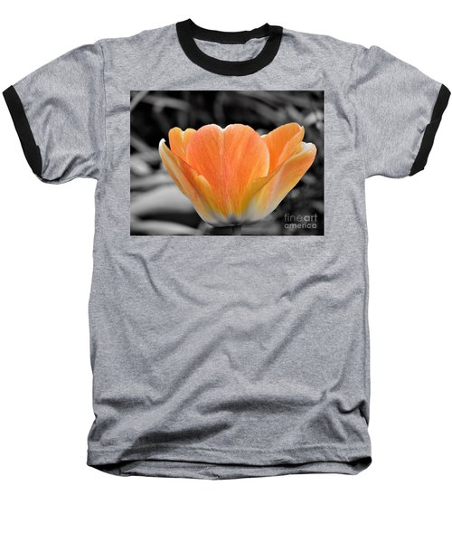 Orange Tea Cup Tulip Baseball T-Shirt