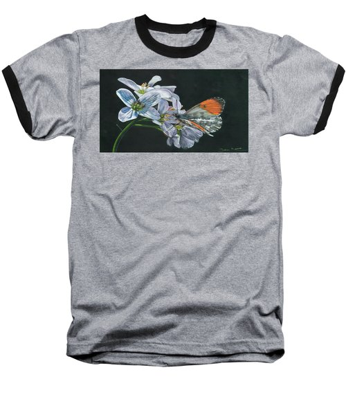 Orange Tip  Baseball T-Shirt