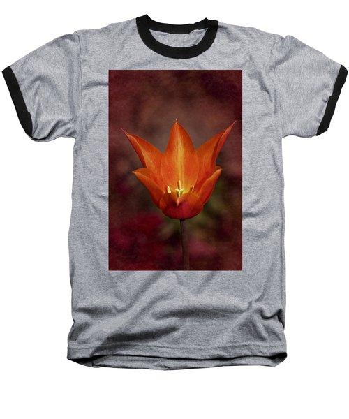 Orange Tulip Baseball T-Shirt