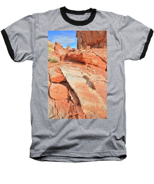 Orange Valley In Valley Of Fire Baseball T-Shirt by Ray Mathis