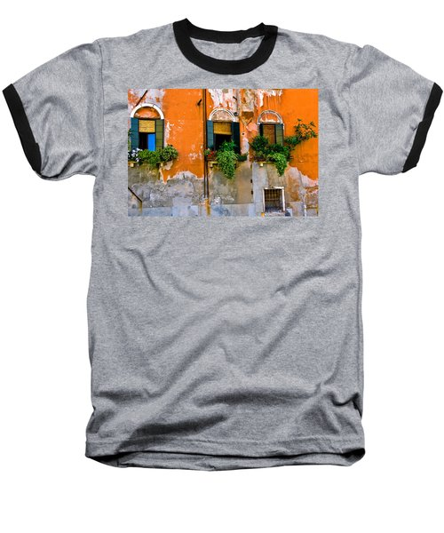 Orange Wall Baseball T-Shirt
