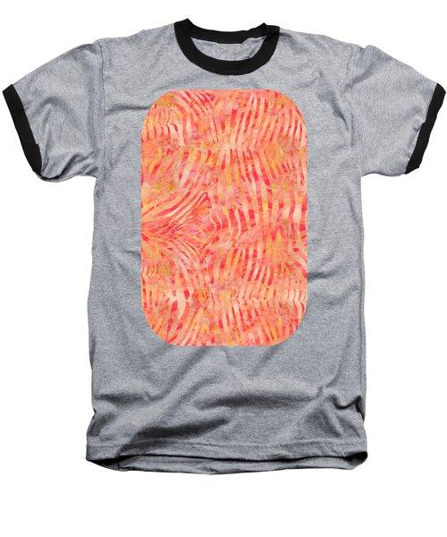 Orange Zebra Print Baseball T-Shirt