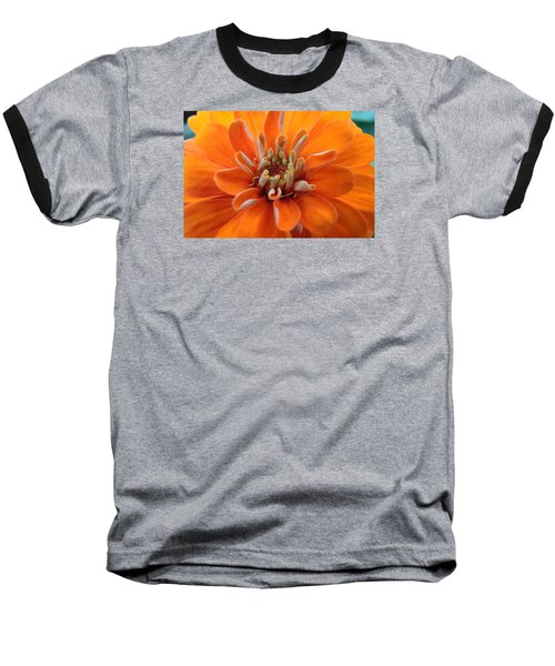 Orange Zinna Baseball T-Shirt