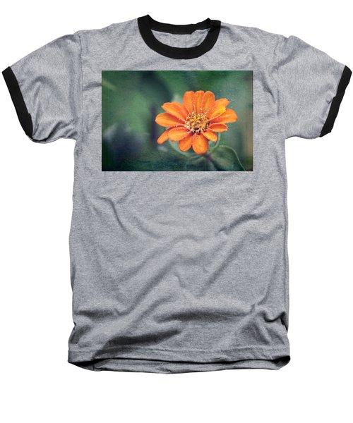 Orange Zinnia Baseball T-Shirt
