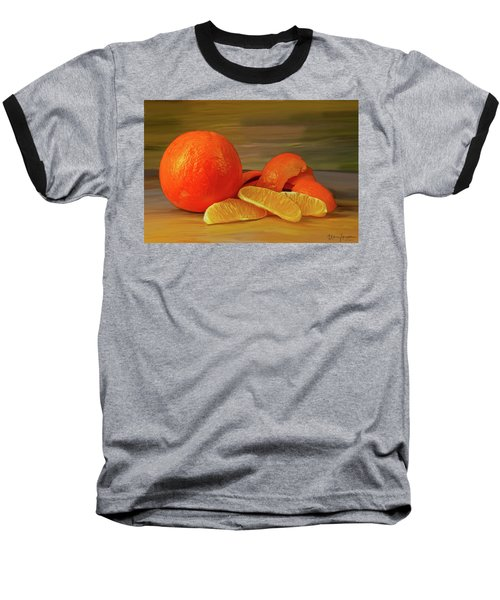 Oranges 01 Baseball T-Shirt by Wally Hampton