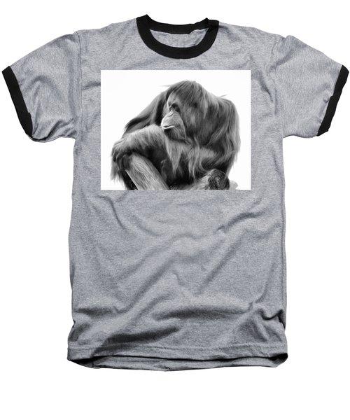 Orangutan Baseball T-Shirt by Lana Trussell
