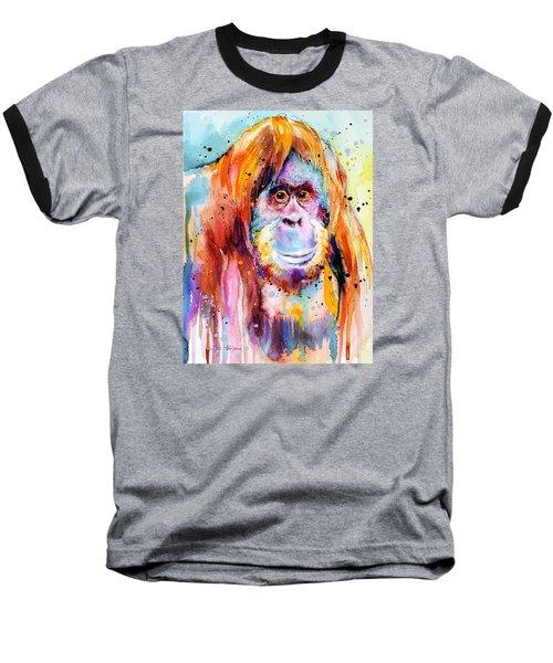 Orangutan  Baseball T-Shirt by Slavi Aladjova