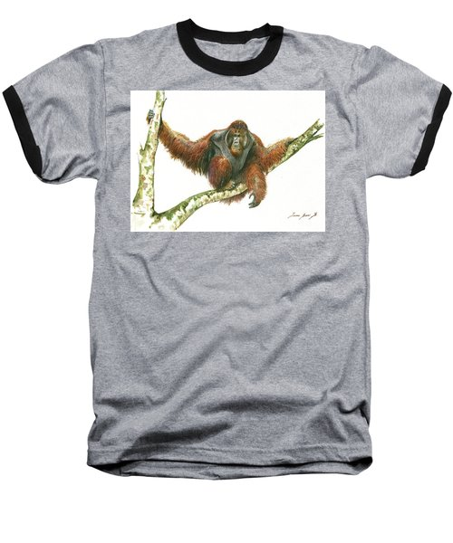 Orangutang Baseball T-Shirt by Juan Bosco