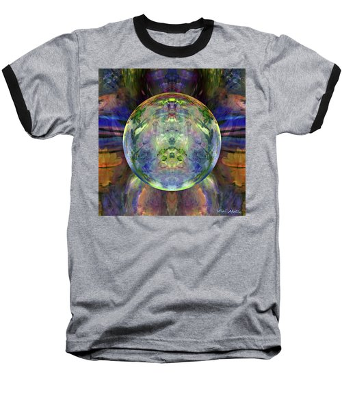 Baseball T-Shirt featuring the digital art Orbital Symmetry by Robin Moline