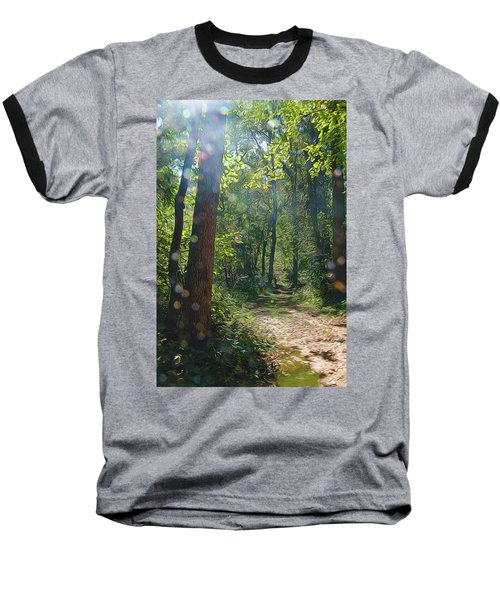 Orbs In The Woods Baseball T-Shirt
