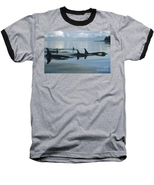 Orca Pod Johnstone Strait Canada Baseball T-Shirt