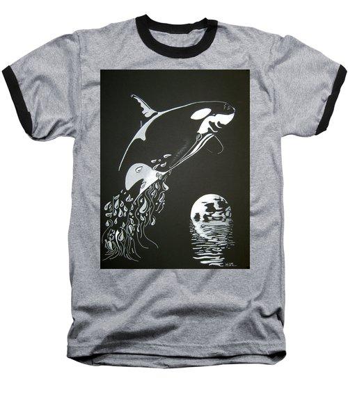 Orca Sillhouette Baseball T-Shirt