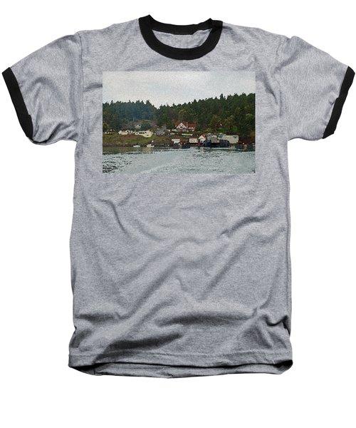 Orcas Island Dock Digital Baseball T-Shirt