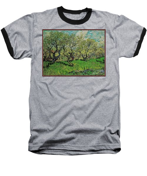 Orchard In Blossom Baseball T-Shirt by Pemaro