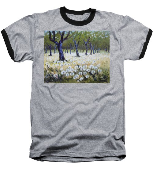 Orchard With Dandelions Baseball T-Shirt by Irek Szelag