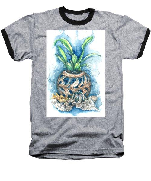 Orchid And Barnacle Baseball T-Shirt by Ashley Kujan