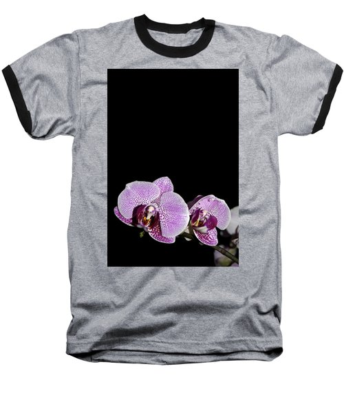 Orchid Blooms Baseball T-Shirt