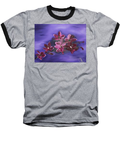 Orchid Blossoms On A Stem Baseball T-Shirt
