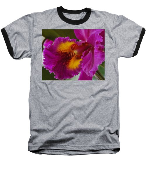Baseball T-Shirt featuring the photograph Orchid In The Wild by Debbie Karnes