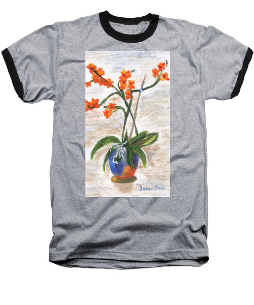 Baseball T-Shirt featuring the painting Orchid by Jamie Frier