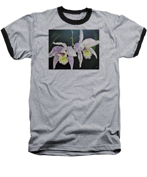 Orchid Jewels Baseball T-Shirt by AnnaJo Vahle