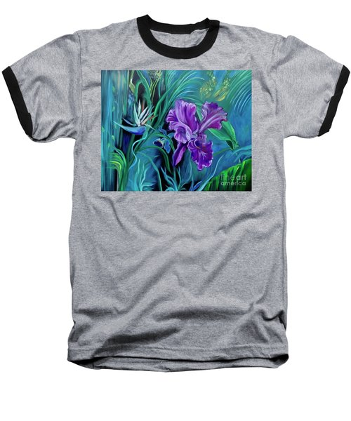 Orchid Jungle Baseball T-Shirt