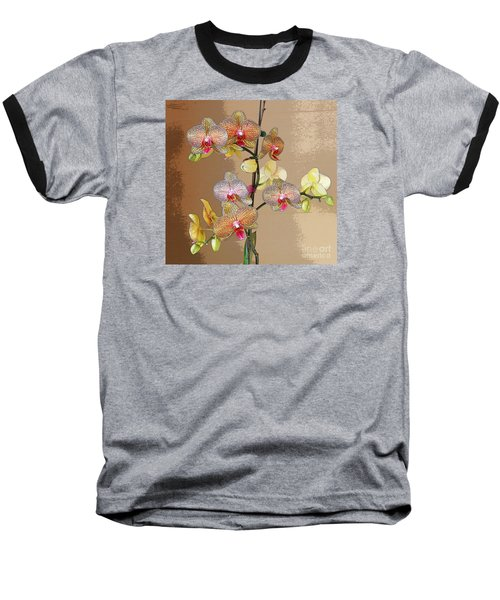 Orchid Love Baseball T-Shirt by Jeanette French