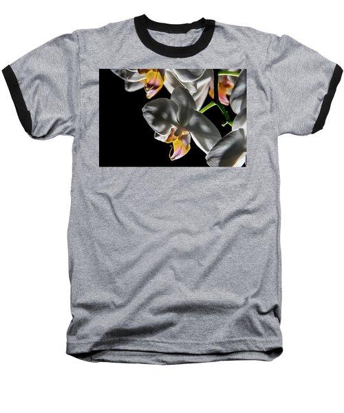 Orchid On Fire Baseball T-Shirt