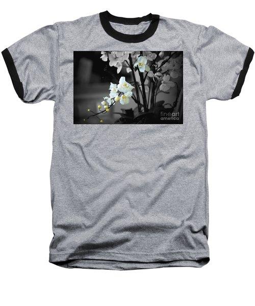 Orchid Selective Color Baseball T-Shirt