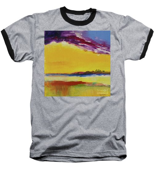 Baseball T-Shirt featuring the painting Orchid Sky by Robin Maria Pedrero
