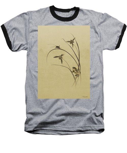 Orchid Sonata Baseball T-Shirt